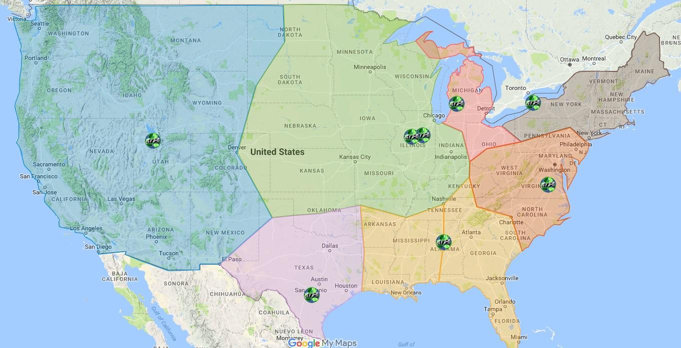 ATR coverage map