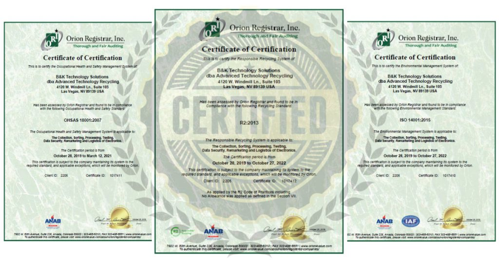 ATR Certifies Las Vegas