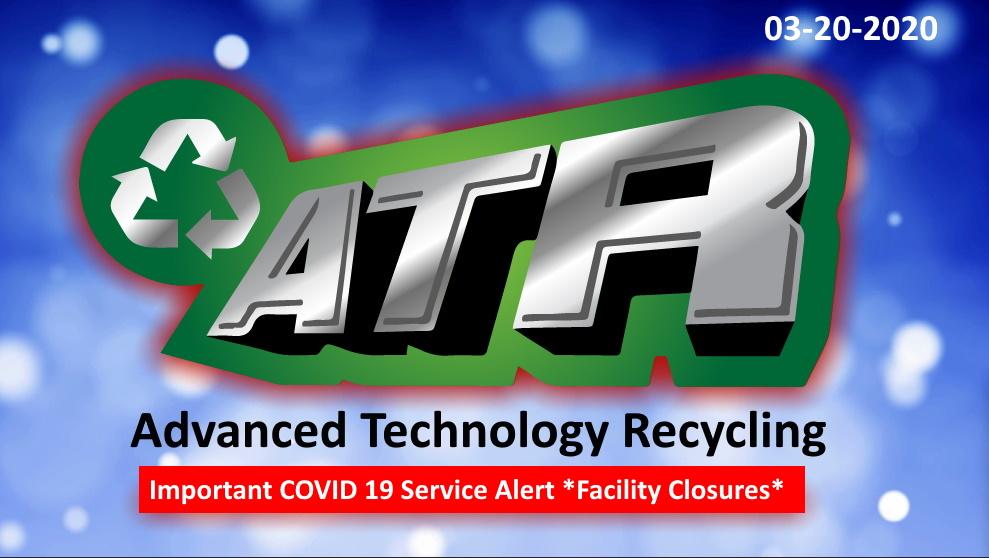 Important ATR Covid 19 service alert to announce closing of tonawanda NY and Pontiac IL facility closures